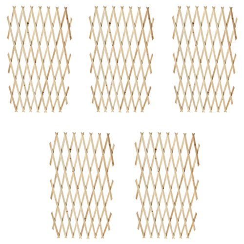 "Extendable Wood Trellis Fence 5' 11"" x 2' 11"" Set of 5 Garden Farm Decoration"