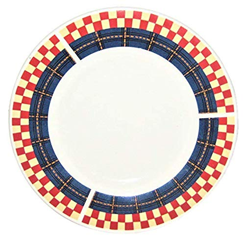 Calico Rooster Oneida Majesticware Porcelain 6 1/2 Inch Saucer Bread Dessert Plate, Set of -