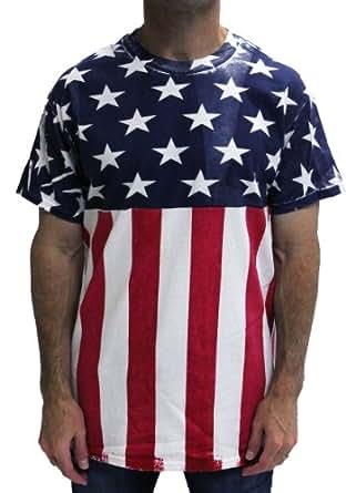 Amazon.com: Hand Screened Stars and Stripes Tshirt: Clothing