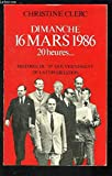 img - for Dimanche 16 mars 1986 20 heures  book / textbook / text book