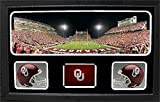Encore Select 657-10 NCAA Oklahoma Sooners Custom Framed Sports Memorabilia with Two Mini Helmets Photograph and Name Plate