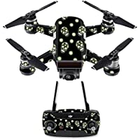 Skin for DJI Spark Mini Drone Combo - Nighttime Skulls| MightySkins Protective, Durable, and Unique Vinyl Decal wrap cover | Easy To Apply, Remove, and Change Styles | Made in the USA