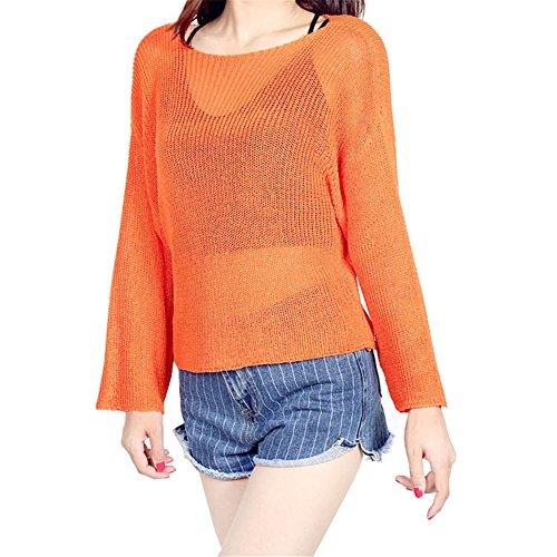 Zrong - Camiseta de manga larga - para mujer naranja