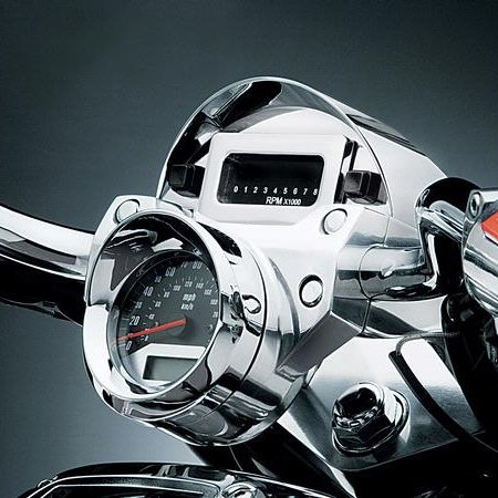 Kuryakyn 4015 Chrome Speedometer/Tach Visor For Harley-Davidson