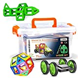 CleverFun Toys 75 pieces Toy with Glow in the dark pieces, wheels and plastic box