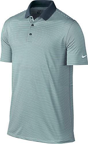 Away Nike Shirt (Nike Men's Dry Victory Mini-Stripe Golf Polo (Armory Navy/Igloo/White, Small))