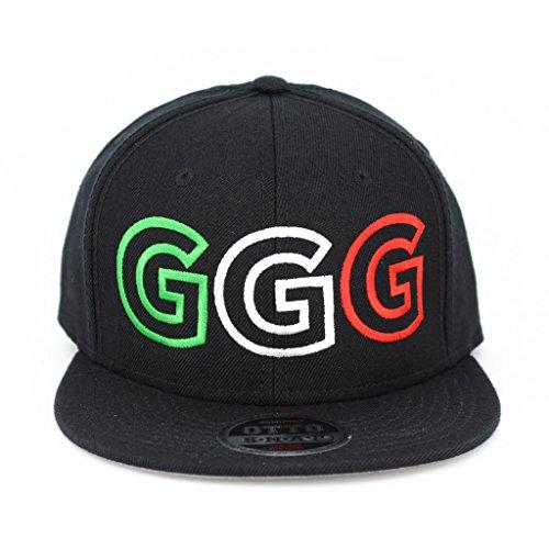 Ggg Flat Six Panel Pro Style Snapback Hat  1804