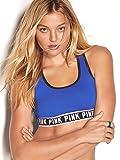 Cheap Victoria's Secret PINK Logo Racerback Bra Large Cobalt Blue