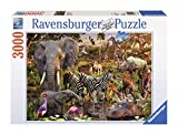 Ravensburger African Animals 3000 Piece Jigsaw Puzzle for Adults - Softclick Technology Means Pieces Fit Together Perfectly