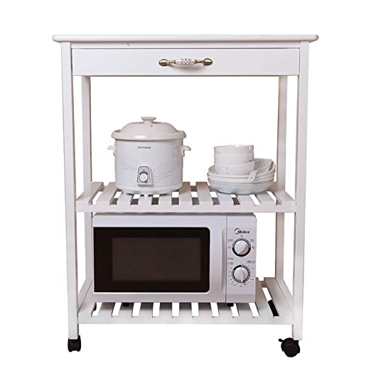 XD Panda Kitchen Solid Wood Microondas Oven Rack Carretilla ...