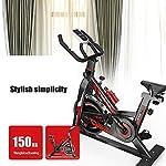 QQLK-Sports-Cyclette-Aerobica-da-Spinning-Allenamento-Indoor-Fitness-Cardio-Spin-Bike-Freno-Silenzioso-Regolazione-Continua-della-velocita-Sedile-Regolabile-Carico-150Kg