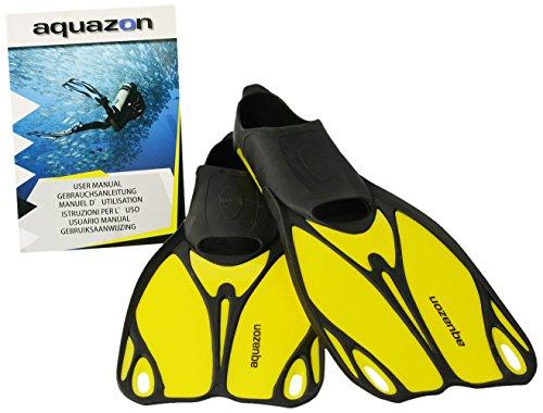 Aquazon Kinder Flossen, Taucherflossen, Schwimmflossen Butterfly, Gelb, 28-30