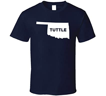 Amazon Com Tuttle Oklahoma City Map Usa Pride T Shirt Clothing