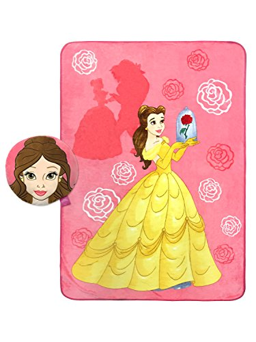 Disney Beauty and the Beast Belle Plush Nogginz Pillow and Blanket 2 Piece -