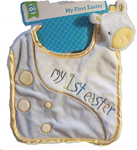 My 1st Easter infant Giraffe Bib Yellow boy or girl