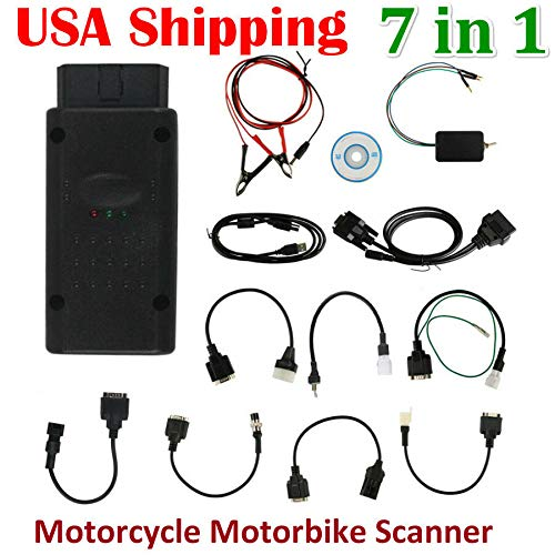 (US Shipping Classic 7 in 1 Motorcycle Scanner Motorbike Repair Code Reader Scan F14557)