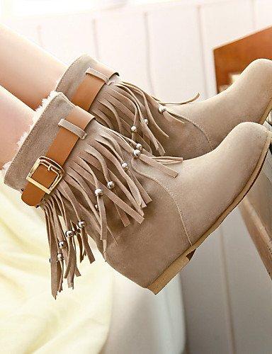Zapatos Eu42 Cerrada Brown De Redonda Casual Uk7 Trabajo Xzz Vestido Uk8 Punta 5 Bajo Brown Ante Y us9 us10 Cn41 Oficina Marrón Cn43 Tacón Eu40 Botas Mujer 5 negro dR0Tx