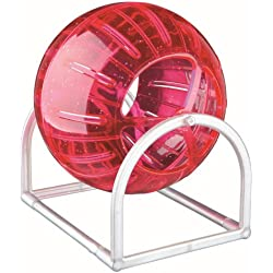 Trixie Hamster & Mouse Exercise Ball And Stand For Cage Playpen Ø 12 Cm - Various Colours