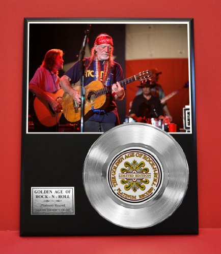 Willie Nelson Limited Edition Platinum Record Display - Award Quality Music Memorabilia Wall Art - from Gold Record Outlet