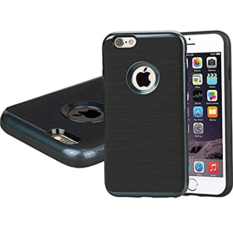 iPhone 6/6S Plus Case, [Dual Layer: Thin Armor TPU Interior Silicone + Heavy Duty Solid PC Back] Scratch Resistant Brushed (Apple Iphone 6 Case Otterbox Slim)