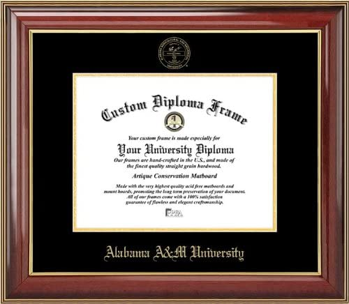 Laminated Visuals Alabama A/&M University Bulldogs Mahogany Gold Trim Diploma Frame Embossed Seal