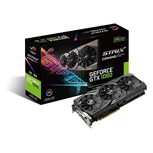 ASUS GeForce GTX 1080 8GB ROG Strix OC Edition Graphic Card STRIX-GTX1080-O8G-GAMING