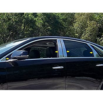 Works With 2013-2017 Cadillac XTS 6PC Stainless Steel Chrome Pillar Post Trim Made In USA