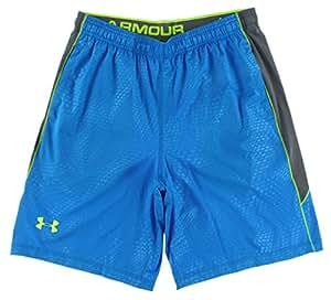 Men's Under Armour Raid Novelty Shorts Blue Jet/Graphite/High Vis Yellow Size XX-Large