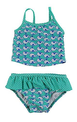 Carter's Infant Girls Mint Whale Print 2pc Swim Suit Set (18M)