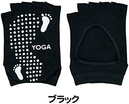 YOGA ソックス 甲オープン ブラック22-25cm