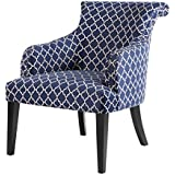 Alexis Rollback Accent Chair Navy See Below