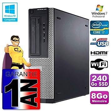 Dell PC 390 DT Intel i7 - 2600 8 GB DDR3 SSD 240 GB WiFi W7 HDMI ...