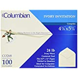 Columbian CO268 Invitation Envelopes, 4-3/8 x 5-3/4 Inches Ivory (Box of 100)