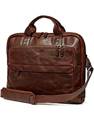 Moore and Giles Titan Milled Brown Jay Modern Briefcase