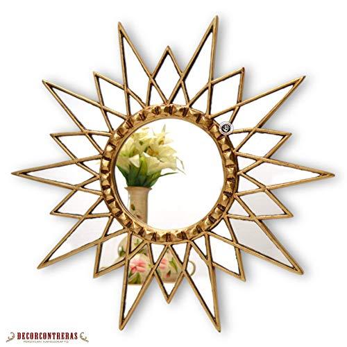 Handmade Gold Star Mirror 23.6