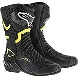 Alpinestars SMX-6 V2 Vented Men's Street Motorcycle Boots - Black/Yellow / 43