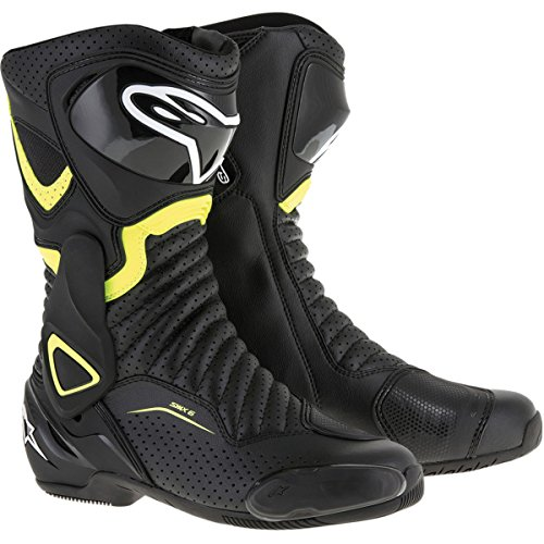 Alpinestars SMX-6 V2 Vented Men's Street Motorcycle Boots - Black/Yellow / 43