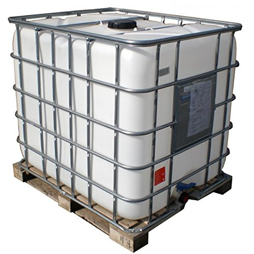 Plasteau–Tank 1000Liter auf Palette Weiß