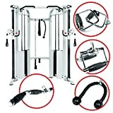 XMark Functional Trainer Cable Machine with Dual 200 lb Weight Stacks, 19 Adjustments, and an UPGRADED Accessory Package, XM-7626.1 XMark Fitness