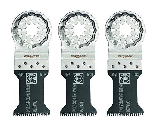 Fein 63502205270 Bi-Metal Precision Oscillating Blade (3 Pack), 1-3/8 x 2