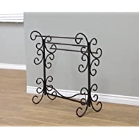 Metal Scroll Quilt Rack Elegan and Stylish in Black Color Made in USA Made of Tubular Steel Solid and Sturdy