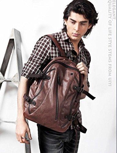 ZeleToile Mochila casual Schoolbag Mochila escolar para colegio Bolsa al hombro Bolsa para PC Tableta portátil de 15 pulgadas (marrón)