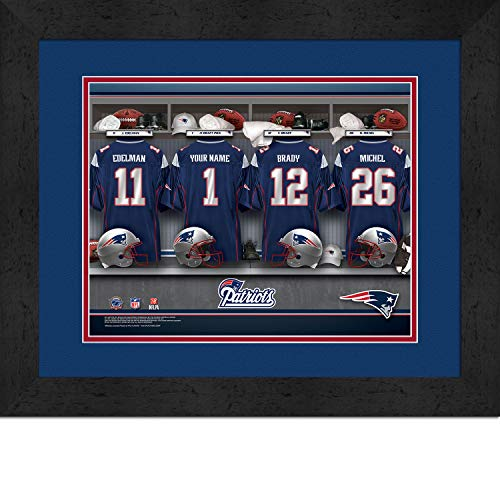 New England Patriots NFL Jersey Wall Print, Personalized Gift, Boy's Room Decor -