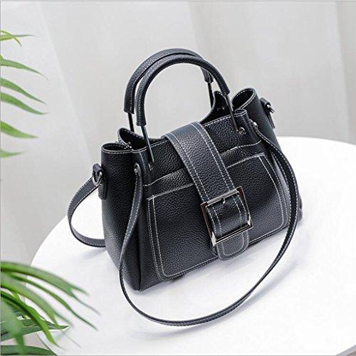 À taille Grande Main Mère 27 Noir 13 Mode Bandoulière Pu Messenger Sac 20cm Générique Capacité Femme Occasionnel fqTUx5w