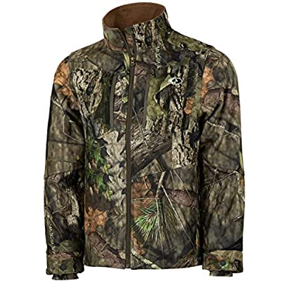 Mossy Oak Men's Camo Sherpa 2.0 Fleece Lined Hunting Jacket in Multiple Patterns