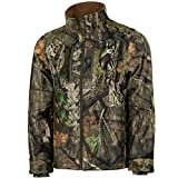 Mossy Oak Men's Camo Sherpa 2.0 Fleece Lined Hunting Jacket, Break-Up Country, Large