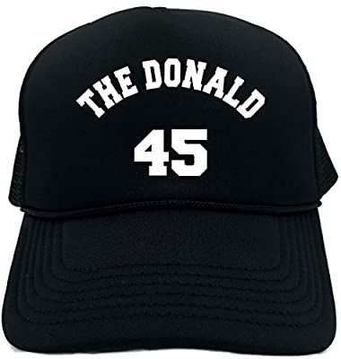 Funny Trucker Hat (The Donald 45 (Donald Trump for Pres)) Unisex Adult Foam Cap