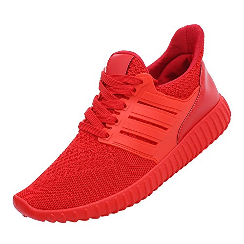 Men's Trainers Sneakers Breathable Mesh Cross Country Sport Running Shoes B# Red US 7.5 by fereshte