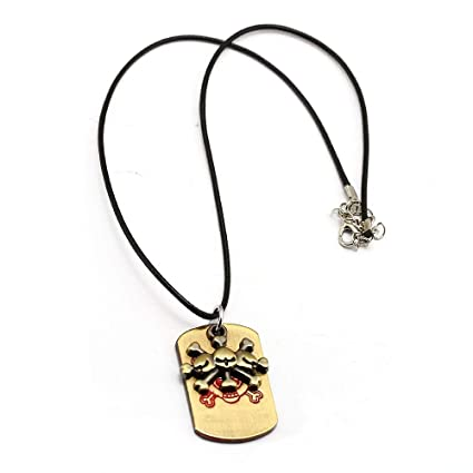 Mct12 - Anime One Piece Black Beard Pirates Dog Tag Necklace ...
