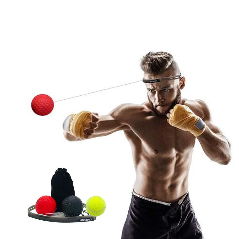 KORAMAN 難易度3段階 敏捷性向上 ボクシングリフレックスボール 難易度3段階 ヘッドバンド付き スピードトレーニングの強化 視覚と手の協調トレーニング 反応トレーニング パンチング 敏捷性向上 パンチング ファイティングスキル向上 B07PV76CQ8, キタカタチョウ:7d7d2430 --- koreandrama.store